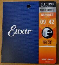 Elixir 12002 Nanoweb Nickel Plated Steel Electric Guitar Strings 9/42 NEUF