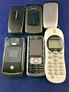 Bulk Original Phones Motorola V2288, Nokia 6210, Samsung E1310B, A701, Moto V3x!