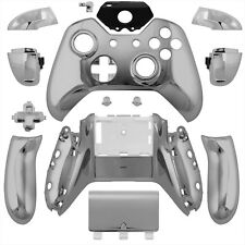 Wireless Controller Full Shell Case Housing for Xbox One Chrome Silver