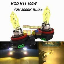 2X H11 12V 3000K 100W Golden Yellow Auto Car HOD Halogen Bulbs Lamps Headlight