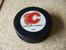 Calgary Flames NHL In Glas Co puck