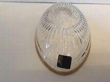 """Marquis Waterford Crystal Handcut Slovenia Oval OblongBowl Gold Trim 7 1/2"""""""
