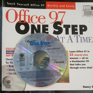 Learn Microsoft Office 97 One Step At A Time Book and Software