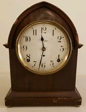 Antique Working Seth Thomas Mahogany Gothic Beehive Mantel Shelf Clock #89 Mvmt.