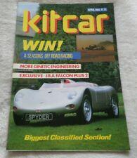 KIT CAR MAGAZINE APRIL 1986 J.B.A  FALCON PLUS 2 GINETTA G27  FALCON S
