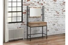 Industrial Chic Dressing Table and Mirror Set With Drawer Bedroom or Studio