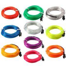 5M EL Led Flexible Soft Tube Wire Neon Glow Car Rope Strip Light Xmas Decor DC