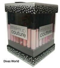 Make Up Couture Lip Gloss 12 Pack Different Colours Lipstick Gift Set Silver Box
