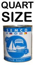 SEMCO TEAK SEALER GOLD TONE QUART TREATMENT SEALANT PROTECTOR PRESERVE SEM-10124