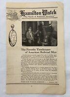 Vintage 1922 Hamilton Watch Advertisement American Railroad Ephemera History e1