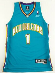 Vintage Reebok NBA New Orleans Hornets Baron Davis Basketball JerseySize Men's M