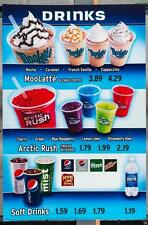 Dairy Queen Promotional Poster For Backlit Menu Sign Drinks Menu dq2