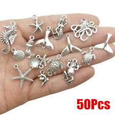 50Pcs Bulk Tibetan Silver Marine Dolphin Pendants Charms DIY Jewelry Finding NEW