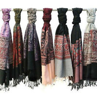 Pack of 3: Amtal Women's Pashmina Fashion Paisley Scarves - Colors Assorted