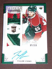 12-13 Panini Rookie Anthology Tyler Cuma Dual Patch Auto 65/99 1/1 His Jersey #