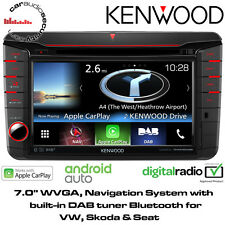 Kenwood DNX516DABS VW SEAT Škoda Sat Nav Bluetooth DVD Apple Android DAB Stereo