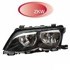 BMW E46 Driver Left Black Trim Halogen Headlight Assembly OEM ZKW 63127165771