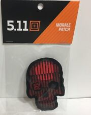 Crusty Bullet Skull Patch 5.11 Tactical Hook & Loop Morale Limited Edition RARE