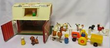 Vintage Fisher-Price PLAY FAMILY FARM #915: Barn, Little People, Animals MORE