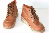 KICKERS Boots à Lacets Cuir Marron Caramel T 34 TBE