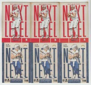 "(6) Philip Rivers 2016 PANINI CLASSICS ""NEXT LEVEL"" BRONZE + CARD LOT CHARGERS"