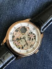 Mens Rotary Skeleton GS02522/01 Luxury Rose Gold Mechanical Watch Near Mint