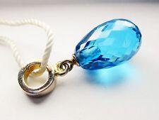 """Persona Sterling Silver """"Brilliant Briolette Blue Dangle"""" Bead Charm H13303P1-02"""