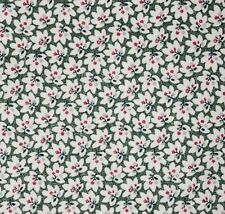 "100% Cotton Fabric Green Mini Floral Lexington II - 44"" Wide, 1 YD + 22"" New"