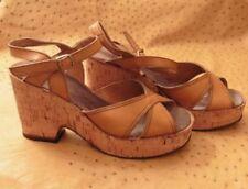 Chaussures vintage en cuir pour femme EUR 38