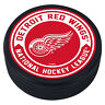 """Detroit Red Wings Arrow Design 3D Textured """"Raised Letters"""" Hockey Puck - NEW"""