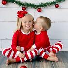 2PCS Bébé Enfant En Bas Âge Garçon D'enfants Filles Haut Pantalon Noël