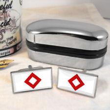 Gemelos color principal plata cristal para hombre