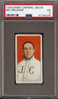 Rare 1909-11 T206 Bill Milligan Sweet Caporal 350 Jersey City PSA 3 VG