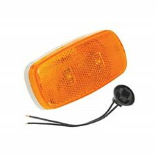 Bargman 42-59-402 Clearance Light LED 59 Series Amber with White Base