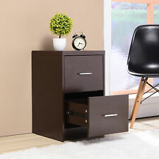 File Storage Cabinet with 2 Drawers Lateral Letter Home Office Espresso