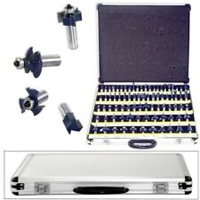 "80pc 1/2"" Shank Tungsten Carbide Router Bit Set 2 3 Blade Power Tools Wood Bits"
