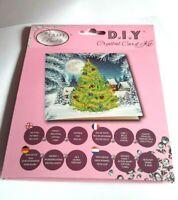 """Craft Buddy  Christmas Crystal Card Making Kit """"Christmas Tree & Moon"""""""