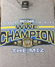 The Miz Wwe Champion T Shirt Large Wrestlemaina Atlanta 4/3/11 Rare