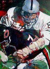 Ted Hendricks  Autographed Limited Edition Fine Art Print Signed Raiders