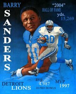BARRY SANDERS 8X10 PHOTO DETROIT LIONS FOOTBALL PICTURE COLLAGE