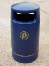 6 x Hefton Trojan Large Capacity Plastic Outdoor Litter Bin - Brand New BLUE
