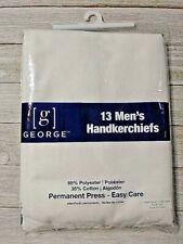 Men's handkerchiefs hankies cotton blend 13 pack new