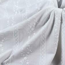 """1 Yard Cotton Fabric Vintage Embroidery floral White Cotton Lace Fabric 51"""" Wide"""