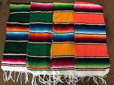 "Decorative Hand Woven Mexican Serape Saltillo Blanket - Table Runner 33"" x 14.5"""