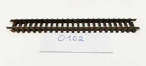 0102, 1020 Straight Track, Length 111mm, 1 Piece Arnold N Gauge Top