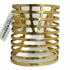 Lucky Brand Wide Cuff Bracelet Multi Tiered Openwork Gold Tone Metal MSRP $59