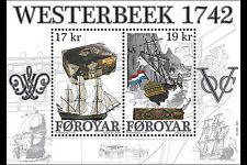 Faroer 2016    Wrak vd Westerbeek VOC schip  ship blok-m/s     postfris/mnh