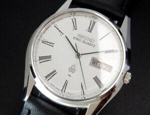Serviced Seiko King Quartz 1977 Sep. Vintage Mens Watch 5856 reloj uhr montre