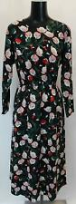 Compania Fantastica Women's Floral Print Short Shift Dress GS2 Black Size XL NWT