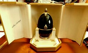 """THEO FABERGE """"EGG OF THE COVENANT""""  139/750- WITH ORIGINAL CASE-COA-24KT GOLD AD"""